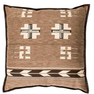 Ralph Lauren Beaded Leather-Trimmed Throw Pillow