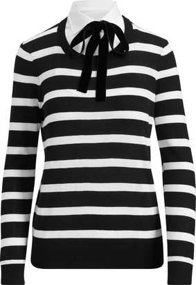 Ralph Lauren Layered Tie-Neck Sweater