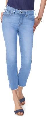 NYDJ Sheri High Waist Frayed Hem Slim Ankle Jeans