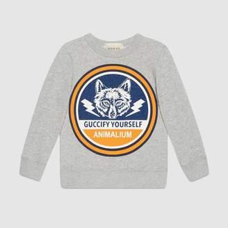 3c6007d0e28 Gucci Children s sweatshirt with wolf print