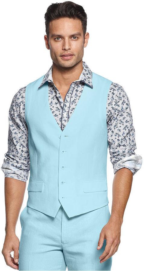 INC International Concepts Vest, Albert Linen Vest
