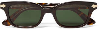 Gucci Square-Frame Tortoiseshell Acetate and Gold-Tone Sunglasses - Men - Brown