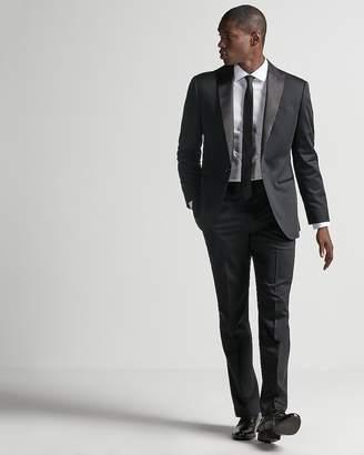 Express Classic Black Cotton Sateen Suit Pant