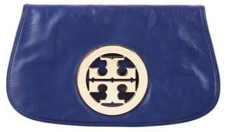 Tory Burch Logo Leather Clutch