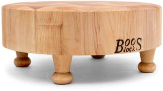 "John Boos & Co End-Grain Chopping Block with Feet, 12"" Round"