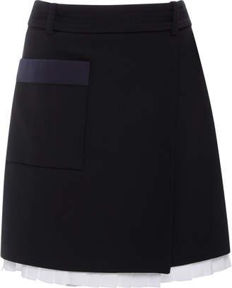 2f2e33cb56 Victoria Victoria Beckham D-Ring Wrap Mini Skirt