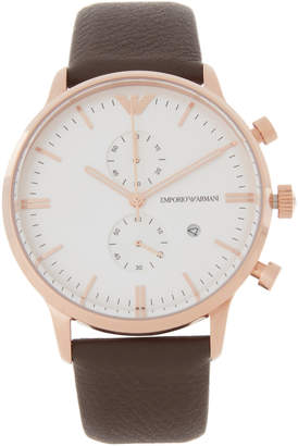 Emporio Armani AR1936 Brown & Rose-Gold Tone Watch
