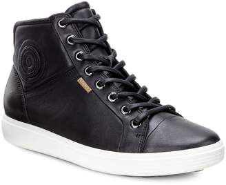 Ecco Leather Hi-Top Sneakers