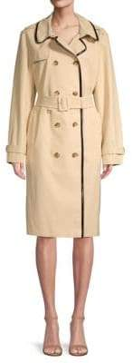 Kate Spade Double-Breasted Cotton Blend Trench Coat