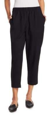 Comme des Garcons Wool-Cashmere Ankle Pants