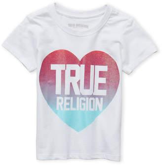 True Religion Girls 4-6x) Glitter Heart Logo Tee