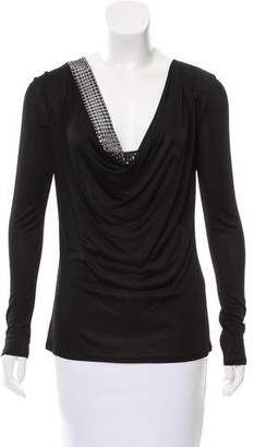 Emilio Pucci Embellished Long Sleeve Top