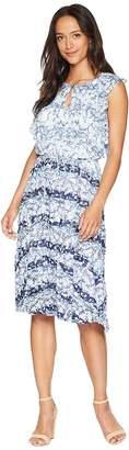 Ellen Tracy Flouncy Sleeve Dress Women's Dress
