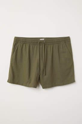 H&M H&M+ Linen-blend Shorts - Green