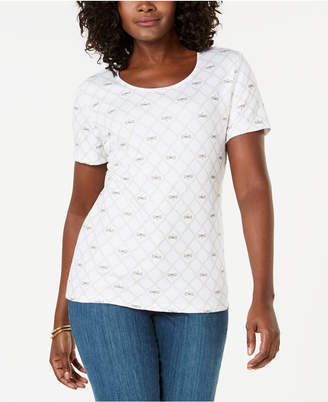 Karen Scott Dragonfly-Print T-Shirt