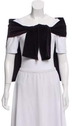 Sonia Rykiel Velvet Zip Pocket Shawl