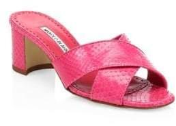 Manolo Blahnik Otawi Snake Sandals