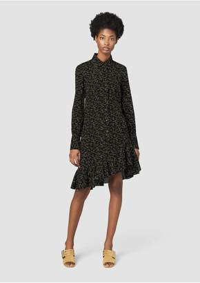 Derek Lam 10 Crosby Long Sleeve Shirtdress With Asymmetrical Hem