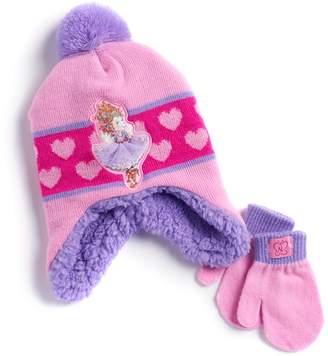 Disney Disney's Fancy Nancy Toddler Girl Hat & Mittens Set