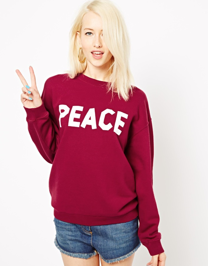 Illustrated People Peace Classic Sweat Top