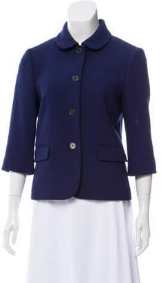Michael Kors Three-Quarter Sleeve Wool Jacket