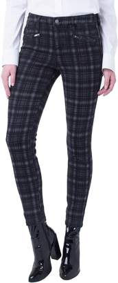 Liverpool Check Moto Zip Ankle Pants