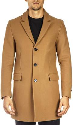 Dondup Camel Wool And Cashmere Coat