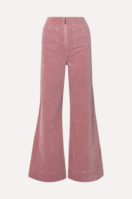 Alice McCall Bluesy Stretch-cotton Corduroy Wide-leg Pants - Baby pink