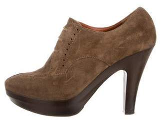 Lanvin Suede Lace-Up Booties