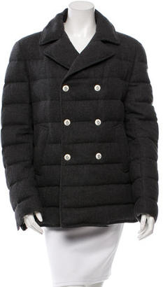 Moncler Gamme Bleu Wool Double-Breasted Coat $805 thestylecure.com