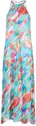 Maryan Mehlhorn Floral Necklace Dress