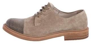 Brunello Cucinelli Suede Low-Top Sneakers
