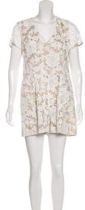 Trina Turk Lace Short Sleeve Romper w/ Tags