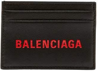 Balenciaga Logo leather cardholder