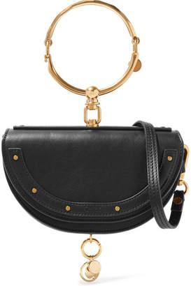 Chloé Nile Bracelet Mini Textured-leather Shoulder Bag - Black