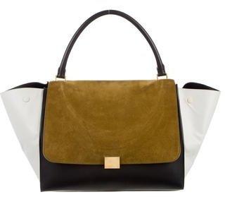 CelineCéline Large Tricolor Trapeze Bag