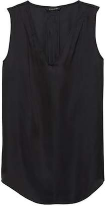 Banana Republic Petite Pleated Drapey Tank