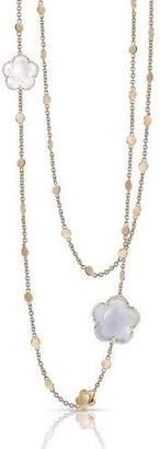 Pasquale Bruni Bon Ton 18k Rose Gold Chalcedony & Quartz Necklace