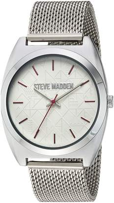Steve Madden Women's Quartz and Alloy Casual Watch, Color Silver-Toned (Model: SMW013PK)