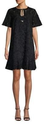 MICHAEL Michael Kors Velvet Burnout Shirt Dress