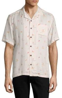 Standard Issue NYC Graphic Button-Down Camp Shirt