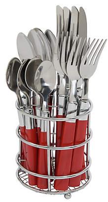 ColourMatch 16 Piece Cutlery Caddy - Poppy Red