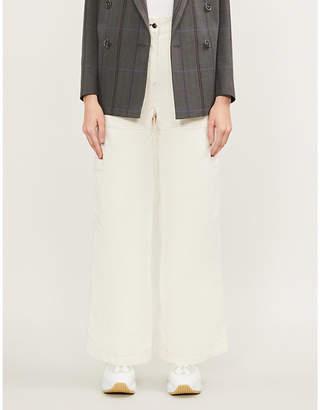 SERENA BUTE LONDON Wide-leg cotton-corduroy trousers