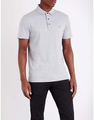 Michael Kors Short-sleeved cotton-jersey polo shirt