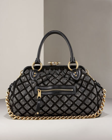 Marc Jacobs Crystal Quilted Stam Satchel