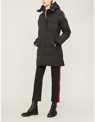 Canada Goose Ladies Black Concealed Zip Shelburne Shell And Down Parka Coat