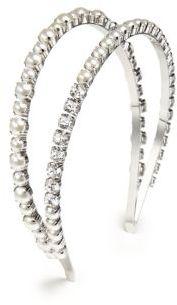 Miu MiuMiu Miu Swarovski Pearl & Crystal Double Headband