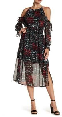 1 STATE 1.State Halter Neck Cold Shoulder Dress