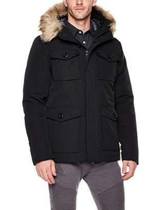 Royal Matrix Men's Down Filled Hooded Parka Jacket with Removable Faux Fur (
