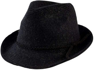 San Diego Hat Company Women's Knit Fedora with Faux Suede Band